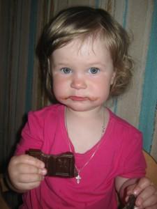 Лиза - шоколадные усы (1 год 4 месяца)