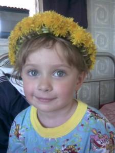 9. Полина В. (6 лет). Одуванчики