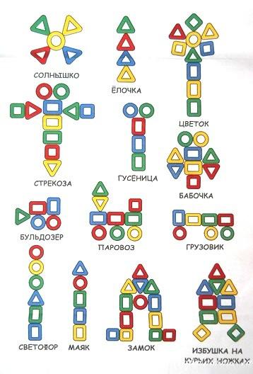 лото геометрические фигуры. Плоскостной конструктор