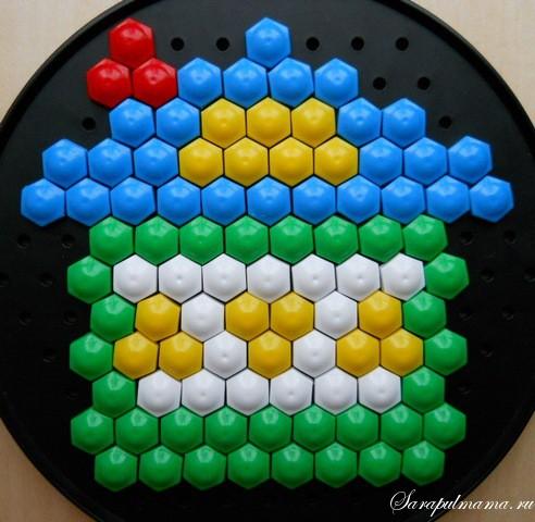 схема узор детской мозаики Домик