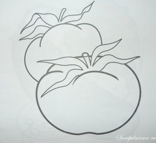 раскраски овощи помидор