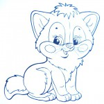 раскраски домашние животные кошка
