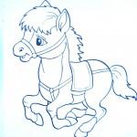 раскраски домашние животные лошадка