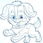 раскраски домашние животные собачка
