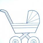 раскраски игрушки коляска