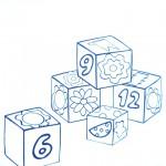 раскраски игрушки кубики