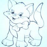 раскраски кошка