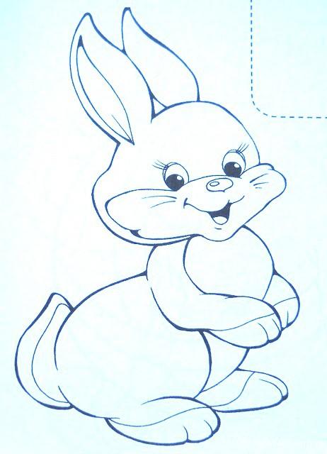 Картинка зайки для детей раскраска