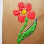 детские поделки из пластилина аппликация цветок