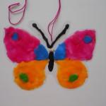 поделки из пластилина аппликация Бабочка
