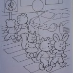 Раскраски для детей Правила дорожного движения