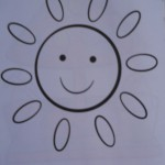 Раскраски для детей Солнышко