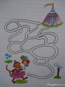 Помоги обезьянке добраться до цирка