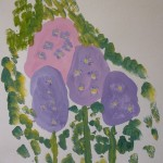 рисунки ребенка 3-4 лет Сирень