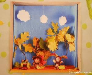 Поделка с детьми «Осенний лес»