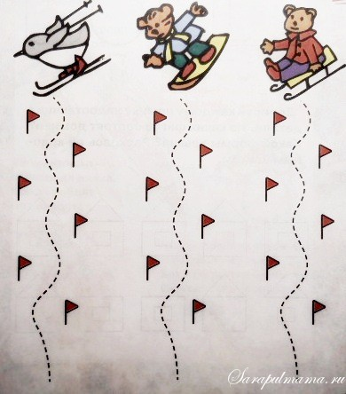 Зимние раскраски для малышей