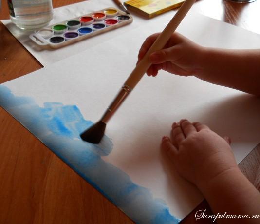 Делаем вместе с ребенком картину из пластилина
