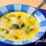 Суп с йогуртом и брокколи