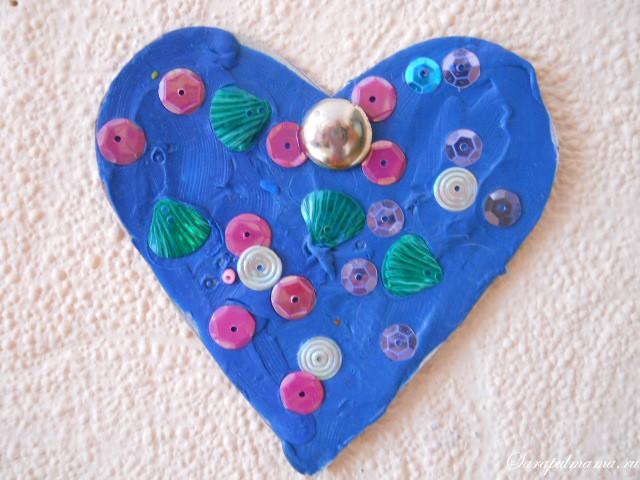 Все поделки сердечки из пластилина
