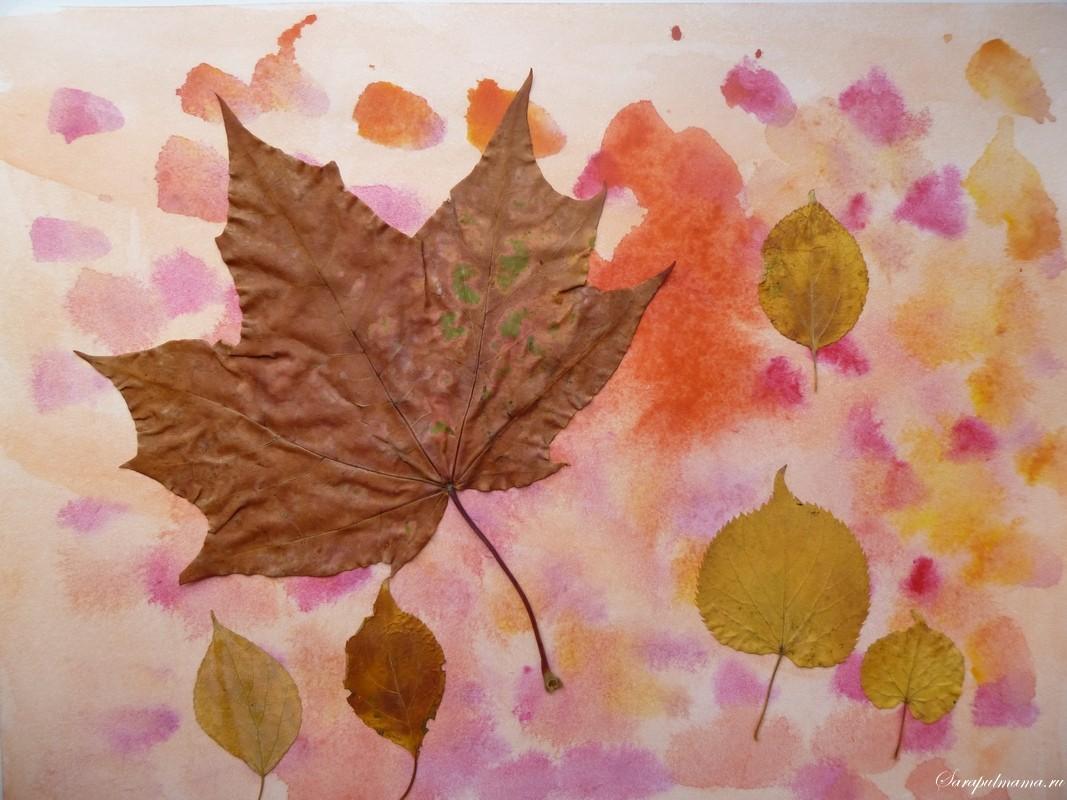 Поделки из листьев и из гербария 422