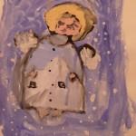 детские рисунок Ангел