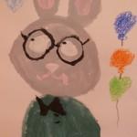 детские рисунок Кролик