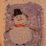 детские рисунок Снеговик