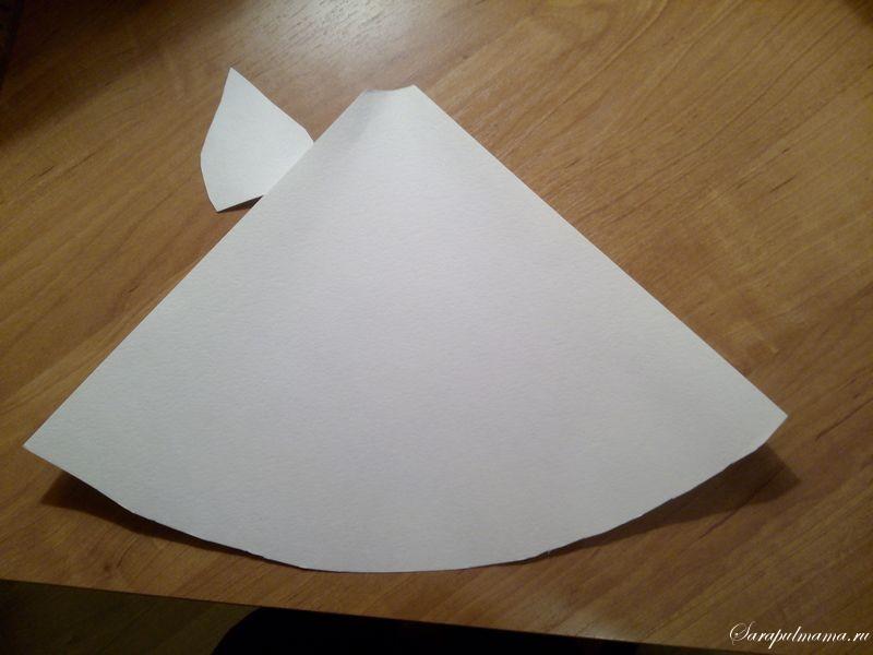 поделка Снегурочка из бумаги