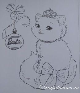 Раскраска Барби
